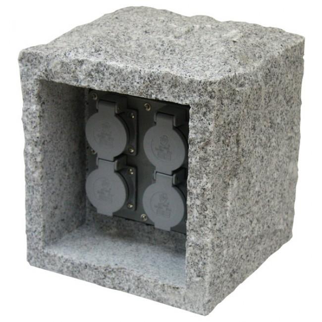 Gartensteckdosen Stein