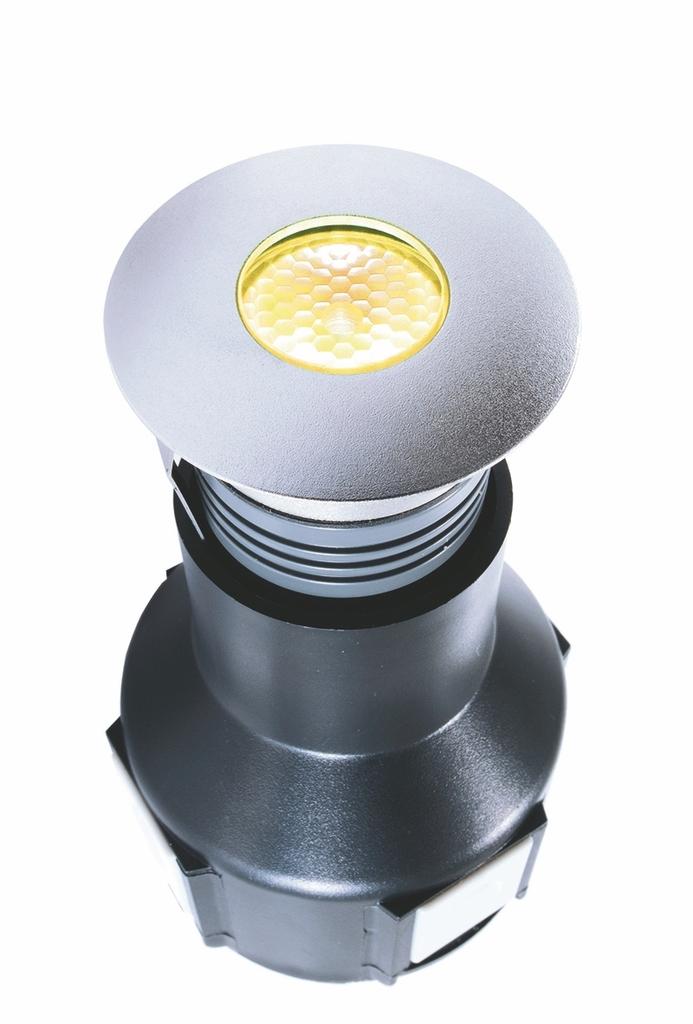 Deko-Light LED Bodeneinbaustrahler LED, Grau,transparent, Edelstahl/Glas, 000064