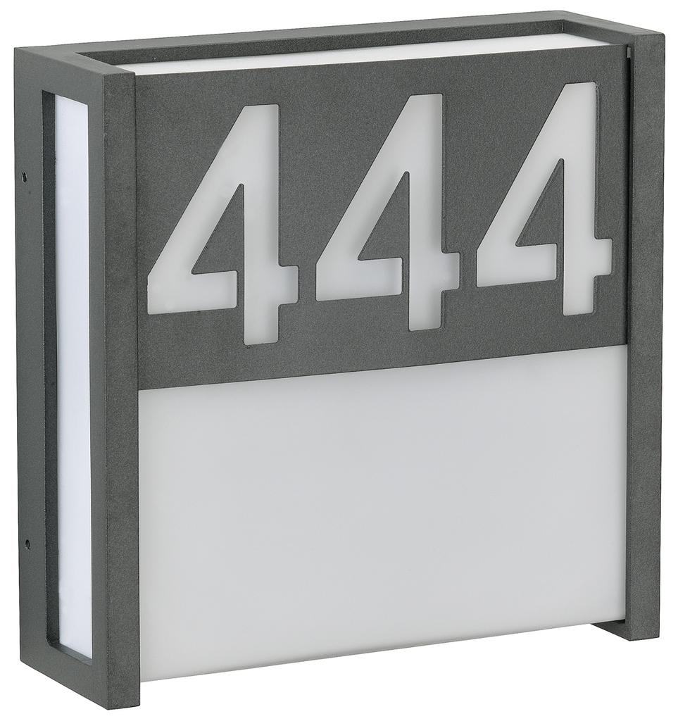 Albert Ersatzteil Hausnummer / Zubehör, Anthrazit, Aluminium, 620032   Lampen > Aussenlampen > Hausnummern   Anthrazit   Aluminium