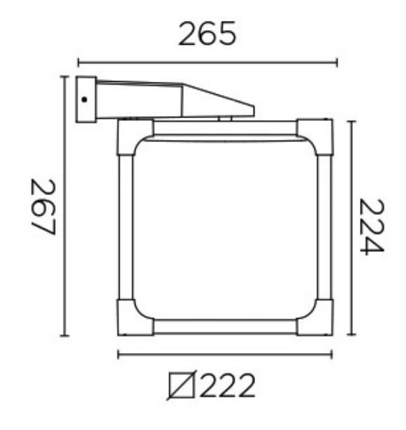 LEDS-C4 LED Außenwandleuchte Vintage, Schwarz, Aluminium/Kunststoff, 05-9774-CC-CD | Lampen > Aussenlampen | Schwarz