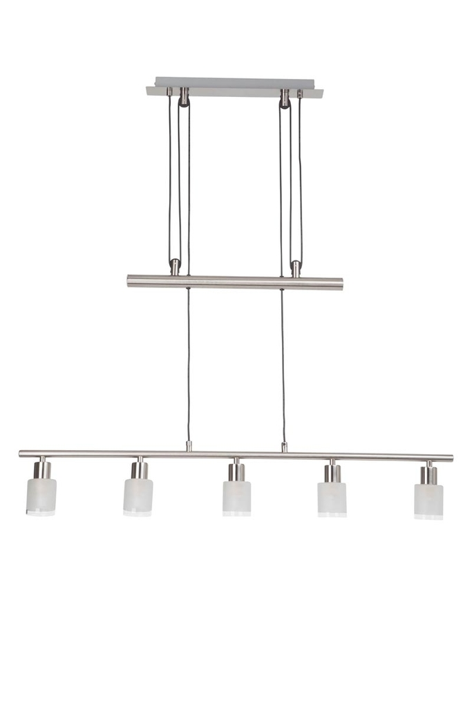 Brilliant LED Höhenverstellbare Pendelleuchte Giorgia E14 LED 3W PE 5, Glas/Metall, G05573/77