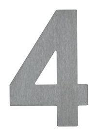 Albert Hausnummer Hausnummer 4, Edelstahl, 690924 | Lampen > Aussenlampen > Hausnummern | Edelstahl