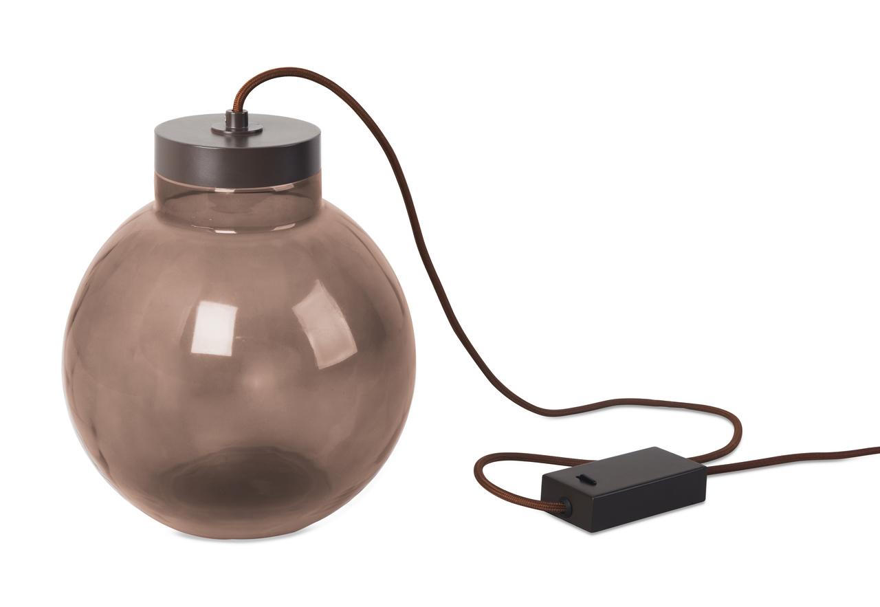 LEDS-C4 LED Tisch Kugelleuchte Raw, Schwarz, Glas/Stahl, 10-5450-CI-18 | Lampen > Tischleuchten > Kugelleuchten | Schwarz
