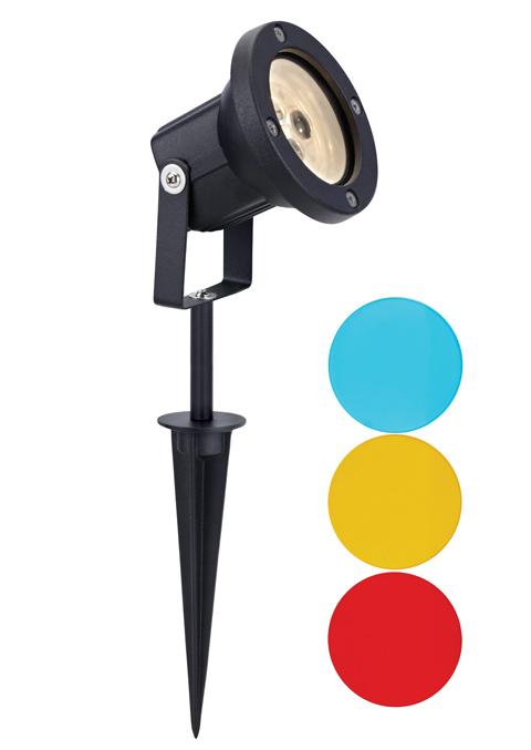 Markslöjd LED Außenstrahler Spot Deluxe, Schwarz, Aluminium/Glas, 104721