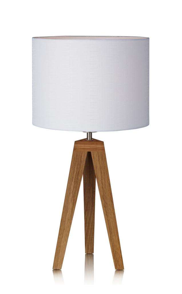 Markslöjd Leseleuchte Kullen, Braun/weiß, Holz/Stoff, 104868 | Lampen > Tischleuchten > Leseleuchten