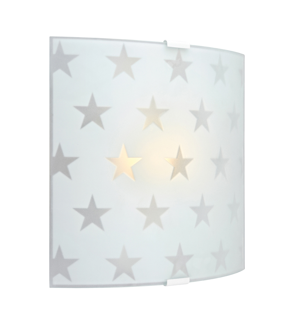 Markslöjd LED Wandleuchte STAR LED Wall Frosted, Weiß, Glas/Metall, 105614