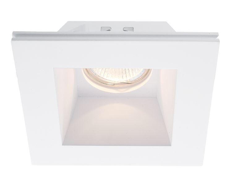 Deko-Light Einbaudownlight Einbauring, Weiß, Gips, 110500