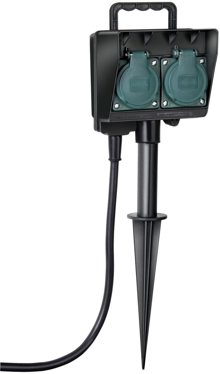Brennenstuhl Zubehör Gartensteckdose Mit Erdspieß IP44 2-fach 1, 1154430 | Baumarkt > Elektroinstallation