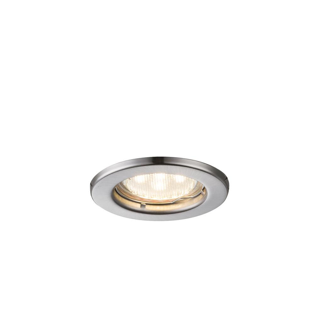 Globo LED Deckenleuchte Einbauleuchte, Metallisch, Metall/Nickel/Stahl, 12100-3LED