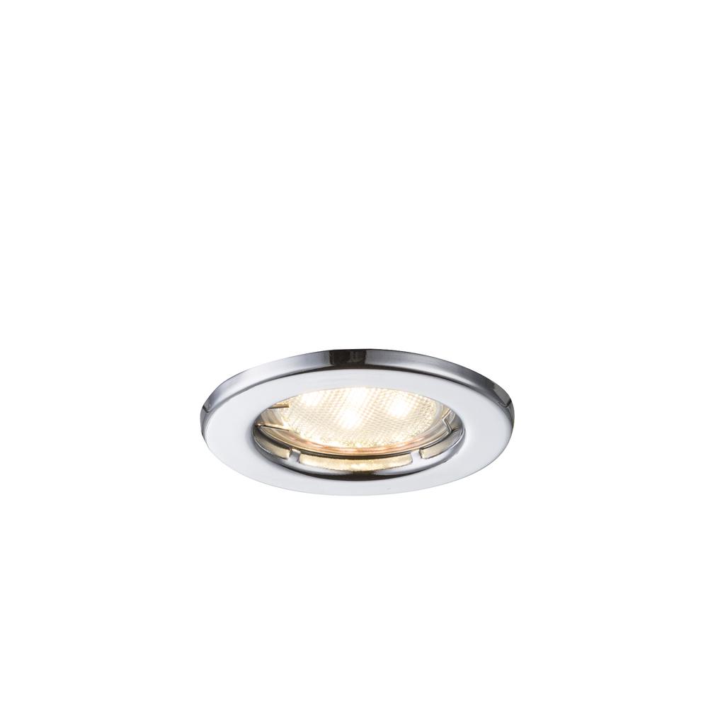 Globo LED Deckenleuchte Einbauleuchte Chrom, Chrom, 12101-3LED