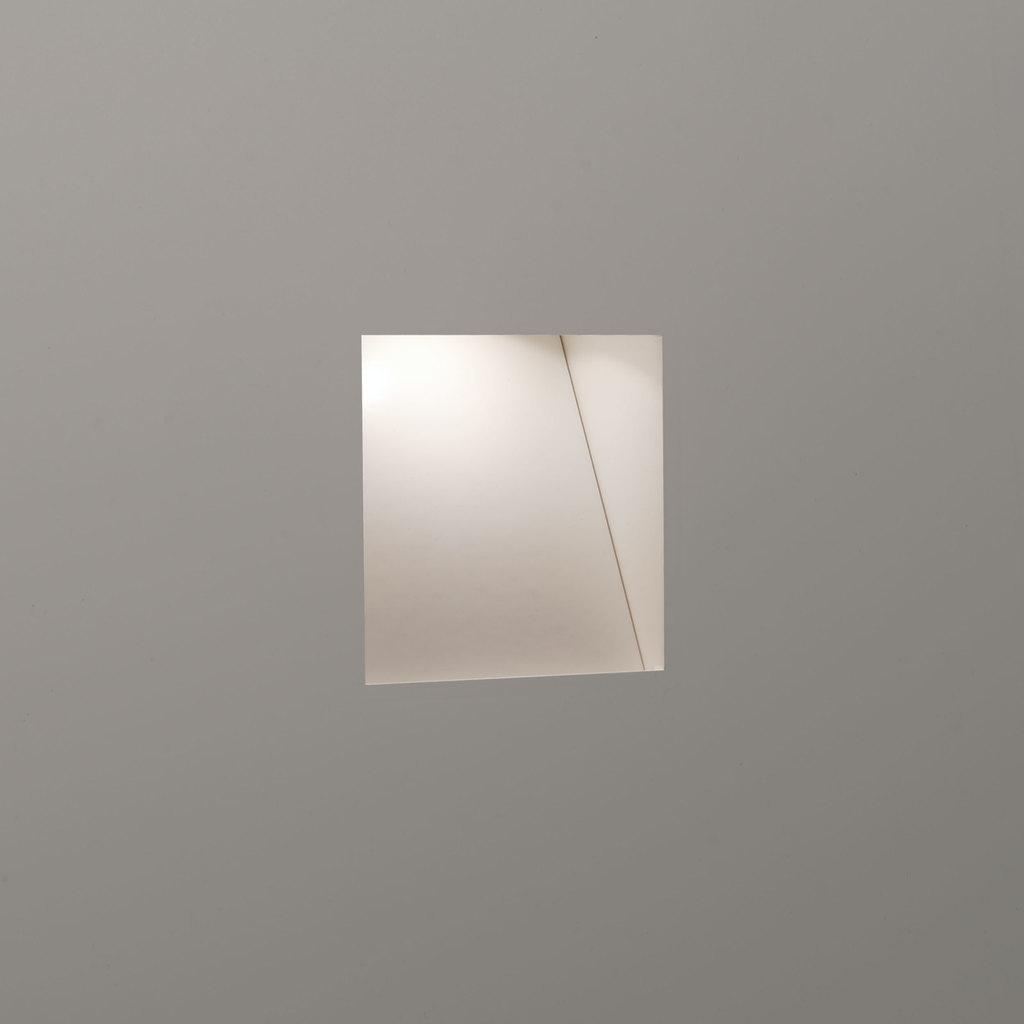 Astro LED Außenwandeinbauleuchte Borgo Trimless Mini, Weiß, Metall/Stahl, 7625