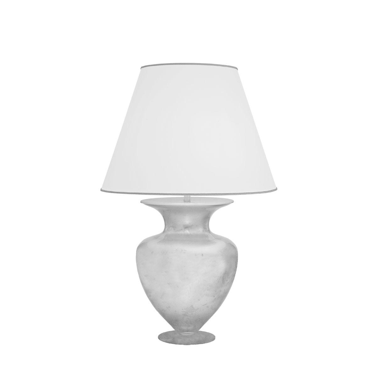 Kolarz Leseleuchte Anfora TL, Chrom/silber/weiß, Glas/Metall/Stoff, 1424.71M.Ag   Lampen > Tischleuchten > Leseleuchten