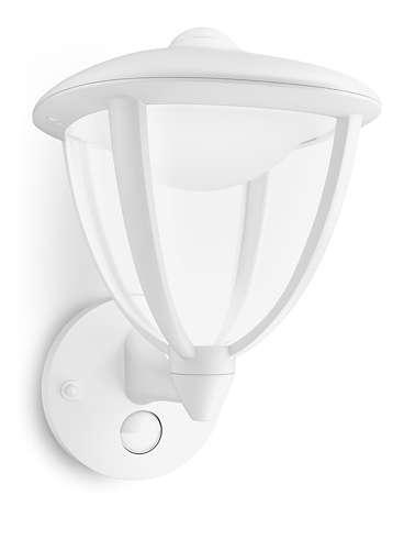 Philips LED Laterne Robin IR, Weiß, Aluminium/Kunststoff, Bewegungsmelder, 154793116 | Lampen > Aussenlampen > Gartenleuchten | Weiß