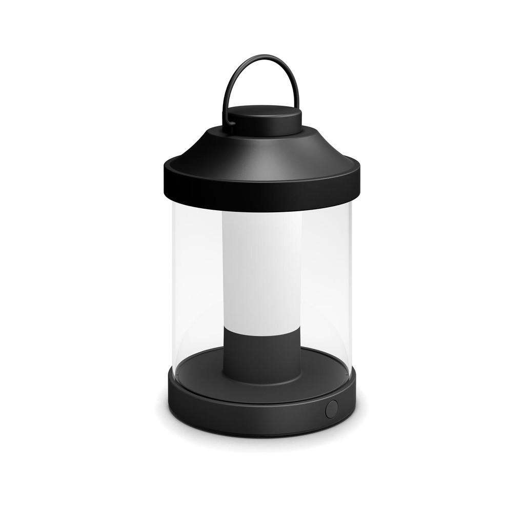 Philips LED Außen Dekoleuchte Abelia, Schwarz/transparent, Kunststoff, 1736030P0 | Lampen > Dekolampen | Kunststoff