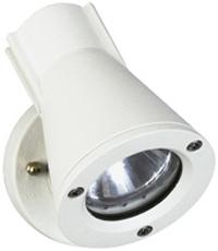 Albert Außenwandstrahler Faralda, Weiß, Aluminium/Glas, 682153