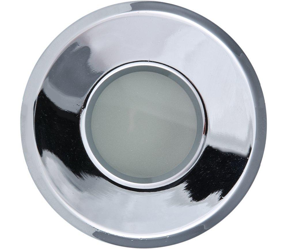 Heitronic Bodeneinbauleuchte EINBAUSTRAHLER GU10 MAX. 50W CHROM, Chrom, Aluminium/Glas/Stahl, 23875