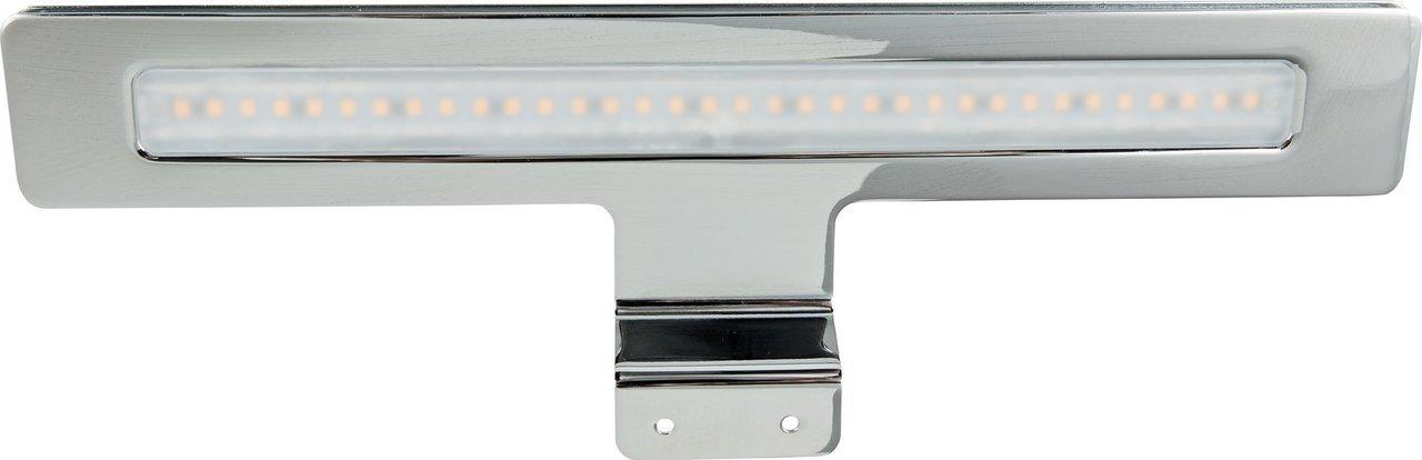 Heitronic LED Schrankaufbauleuchte LED AUFBAULEUCHTE LUCE 7W CHROM WARMWEIß, Chrom, Kunststoff/Metall, 24120