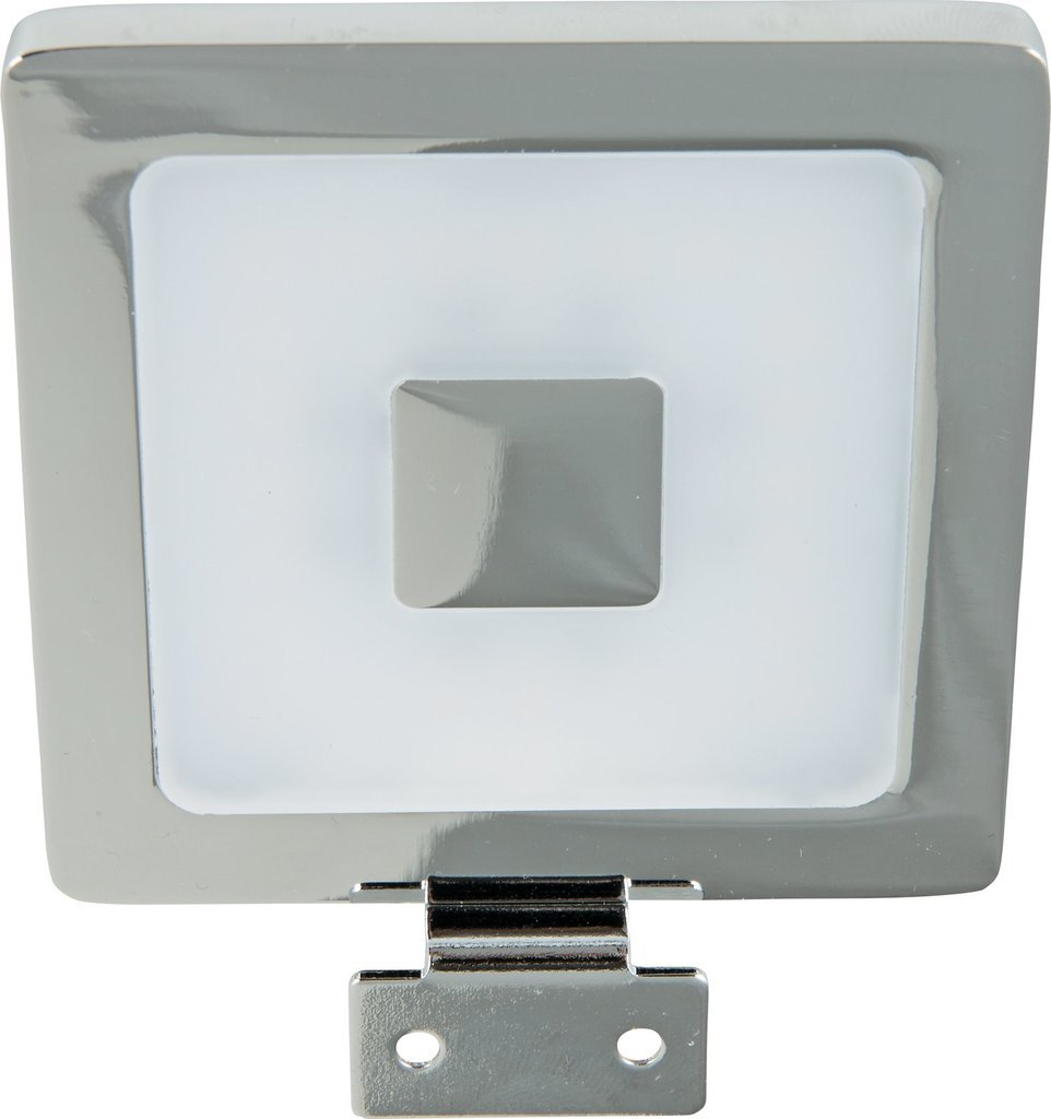 Heitronic LED Schrankaufbauleuchte LED AUFBAULEUCHTE PIAZZA 4, Chrom, Aluminium/Kunststoff, 24121