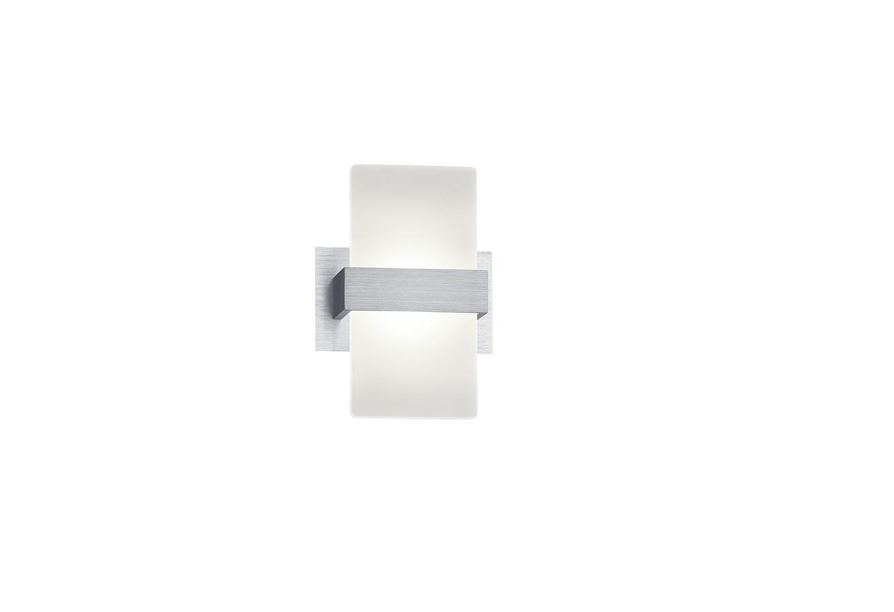 Trio LED Wandleuchte Platon, Metallisch, Aluminium/Kunststoff, 274670105