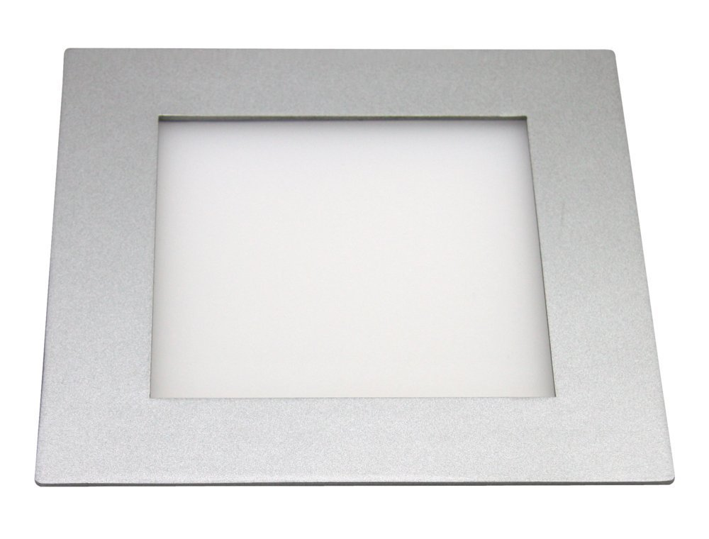 Heitronic LED Deckenleuchte LED Panel, Metallisch, Aluminium, 27641