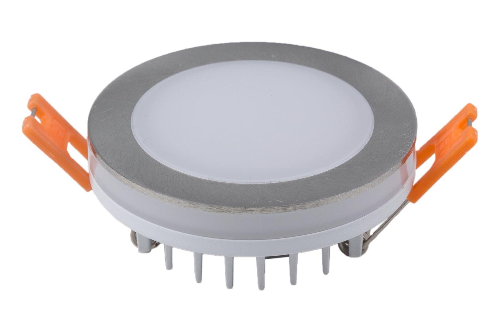 Heitronic Bodeneinbaustrahler LED EINBAUSTRAHLER 6W WW+LICHTKRANZ NICKEL-MATT, 27769