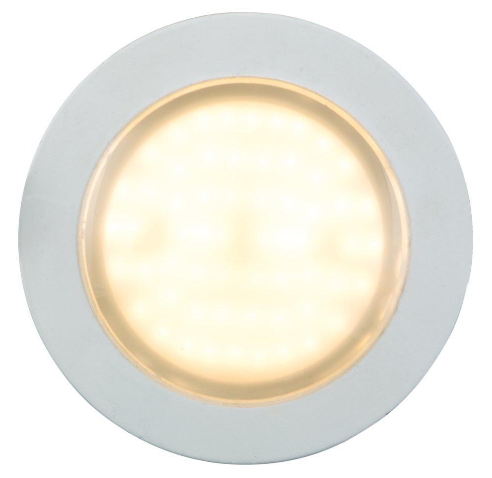 Heitronic LED Deckenleuchte LED EINBAUSTRAHLER 6W WW+LICHTKRANZ, Weiß, Aluminium/Kunststoff, 27776