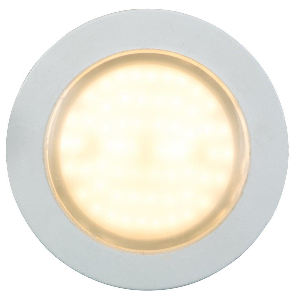 Heitronic LED Deckenleuchte LED EINBAUSTRAHLER 10W WW+LICHTKRANZ, Weiß, Aluminium/Kunststoff, 27779