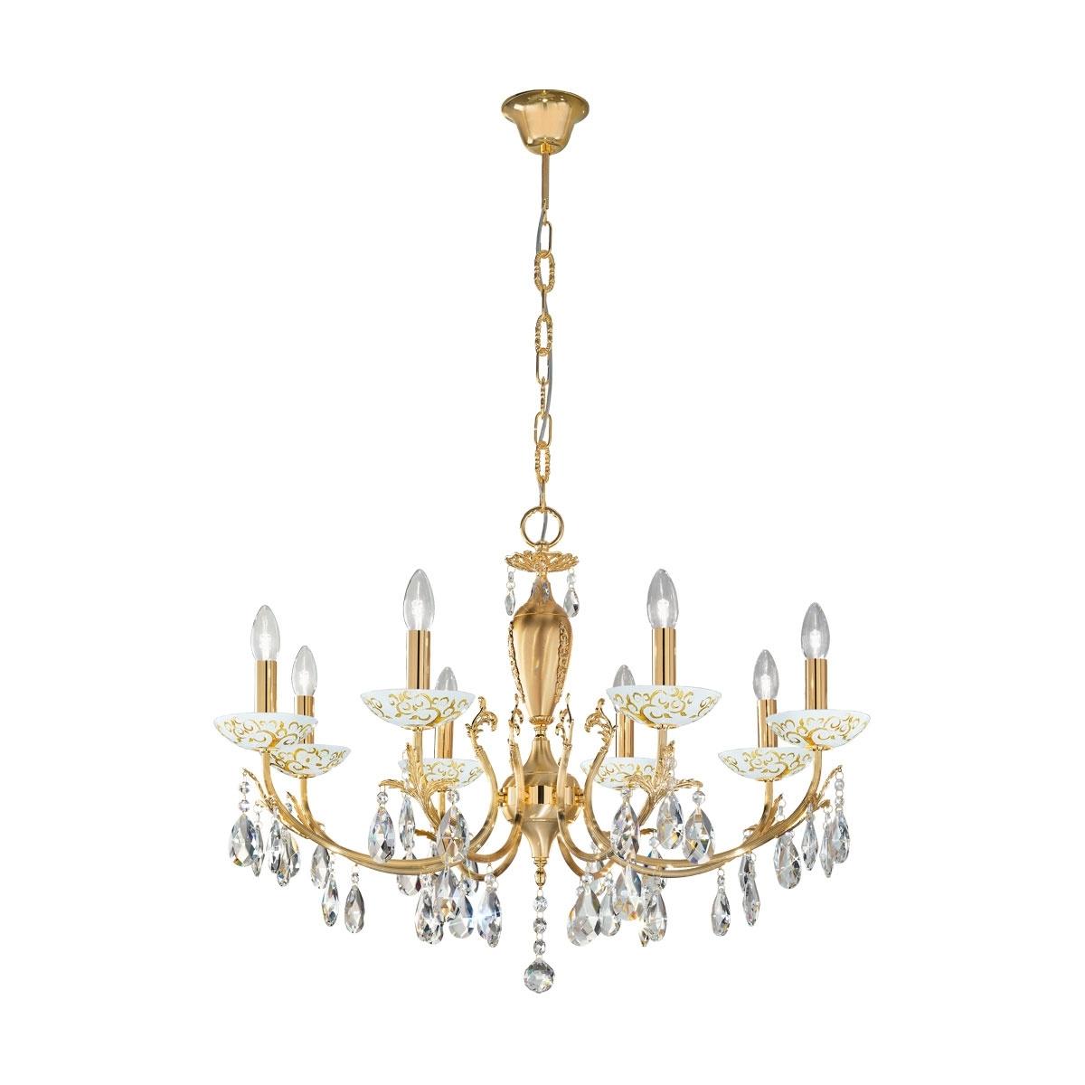 Kolarz Kronleuchter Victoria 2 Luster, Gold/weiß, Kristallglas/Metall, 3003.88.3.KoT/al30 | Lampen > Deckenleuchten > Kronleuchter