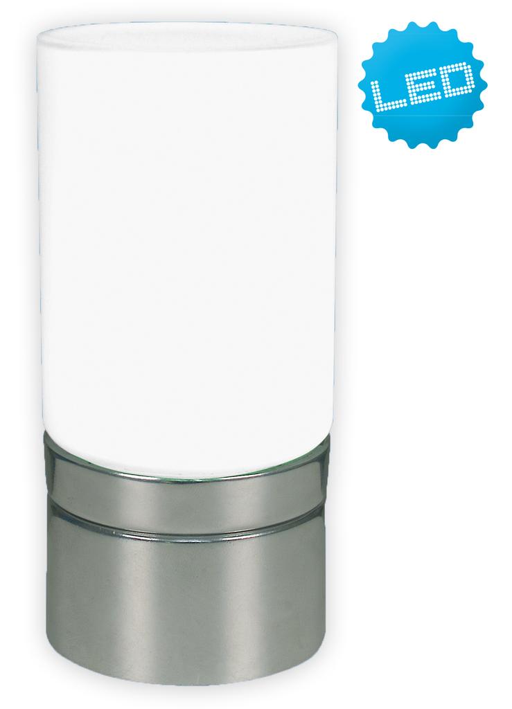 Näve Außen Dekoleuchte Deko-Glastischleuchte, Metallisch,weiß, 302750