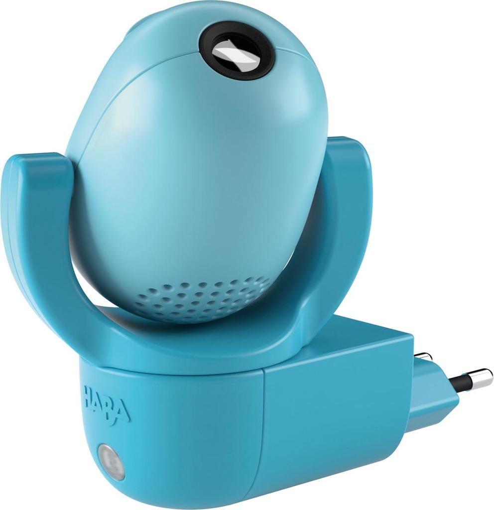 HABA LED Nachtlicht LED-Steckdosenlicht 6 Nachtwächterbär Motiven Plus Musik, Blau, Kunststoff, 302917 | Lampen > Kinderzimmerlampen