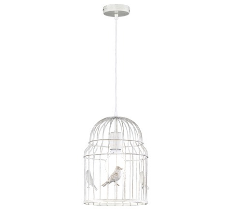 Trio Pendelleuchte Bird Cage, Weiß, Metall, 307...