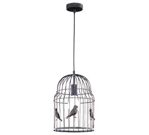 Trio Pendelleuchte Bird Cage, Braun, Metall, 30...