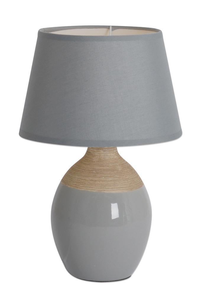Näve Nachttischleuchte Keramik Tischleuchte, Grau, 3122216
