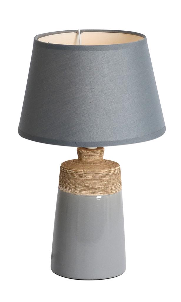 Näve Nachttischleuchte Keramik Tischleuchte, Grau, 3122316