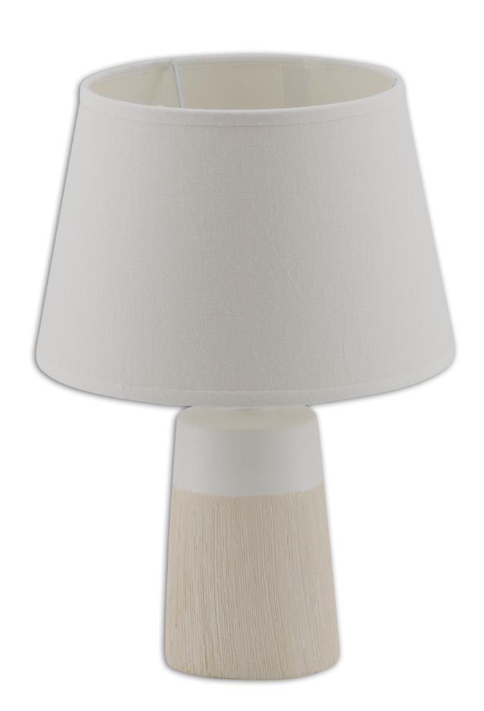 Näve Nachttischleuchte Keramik Tischleuchte, Beige,weiß, 3122323