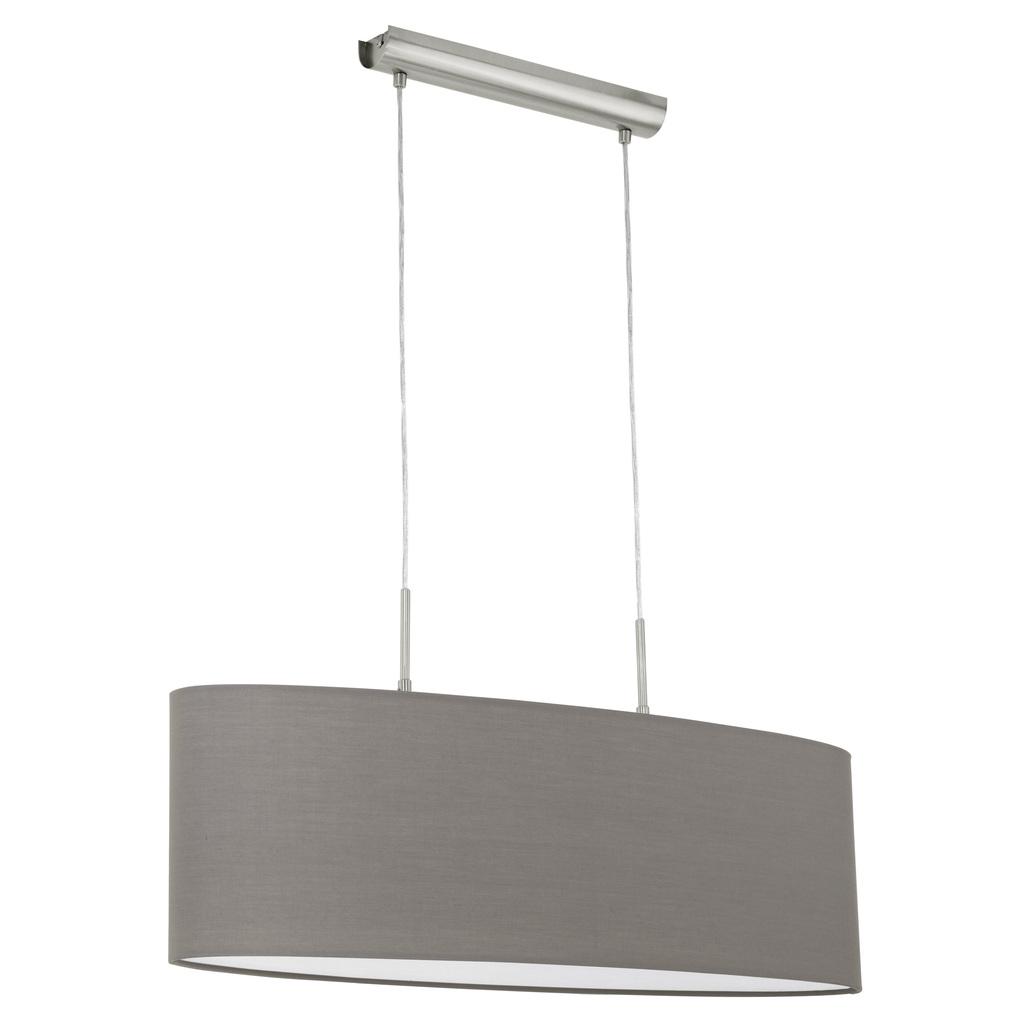 EGLO Pendelleuchte Pasteri, Grau,metallisch, Metall/Stoff, 31583