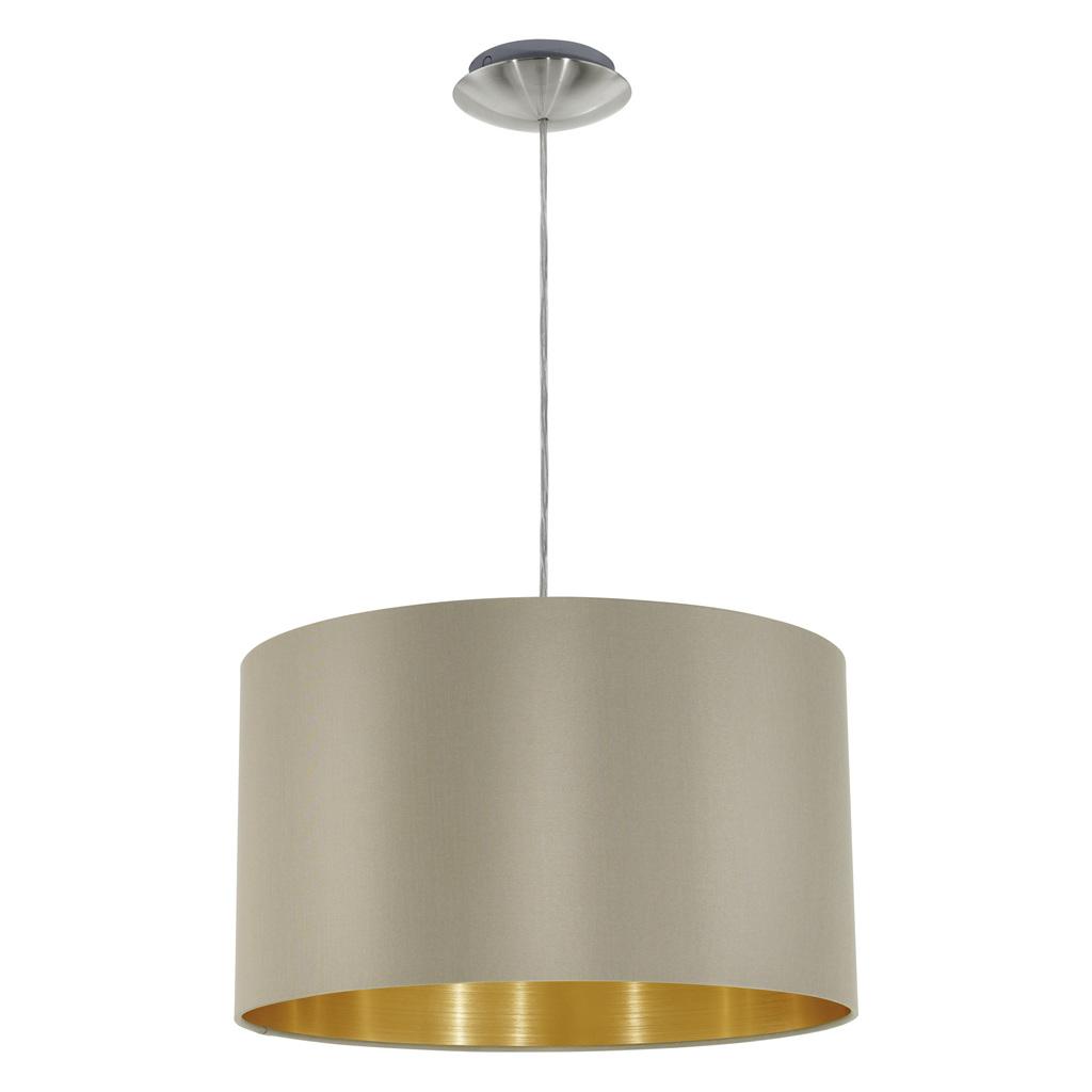 EGLO Pendelleuchte Maserlo, Gold,metallisch, Metall/Stahl/Stoff, 31602
