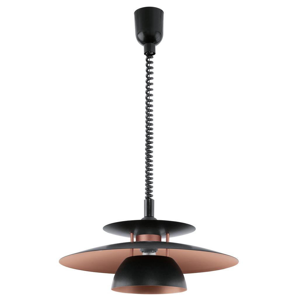 EGLO Höhenverstellbare Pendelleuchte Brenda, Braun,metallisch,schwarz, Kunststoff/Metall, 31666