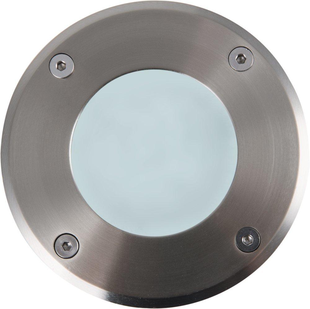 Heitronic LED Bodenleuchte LED BODENEINBAUSTRAHLER AACHEN 3W RUND, Grau, Aluminium/Edelstahl/Kunststoff, 35866