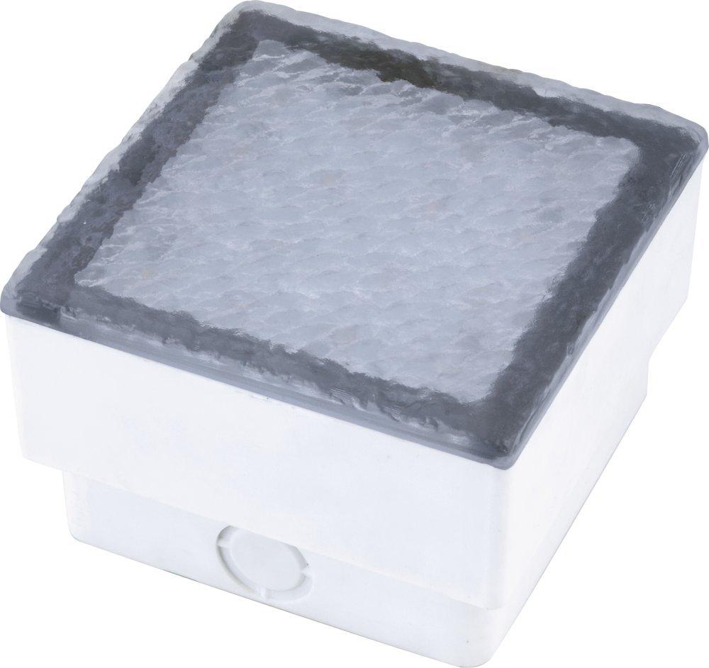 Heitronic LED Bodeneinbaustrahler Akiaki, Transparent/weiß, Kunststoff, 35927