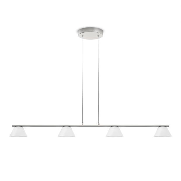 Philips LED Pendelleuchte MYL Vendee LED Pendell Stahl Gebürstet 2000lm, Metallisch,weiß, Glas/Metall, 360211716