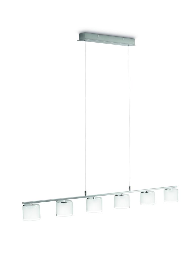 Philips LED Pendelleuchte MYL Byzantin LED Pendell Chrom/sat Glas 2400lm, Chrom,metallisch, Glas, 3655711P1
