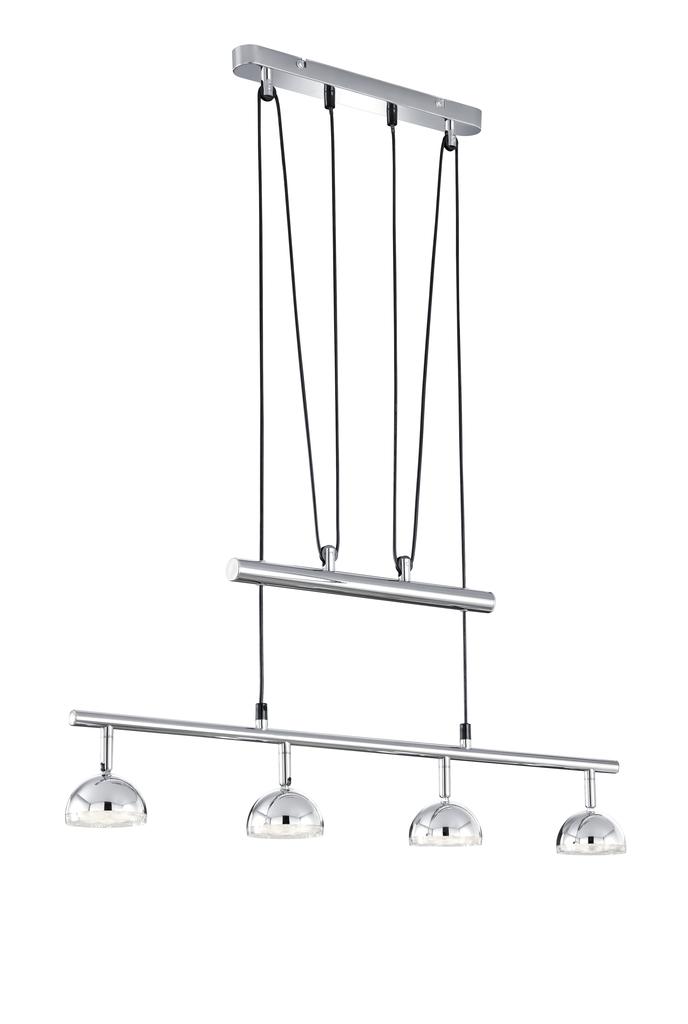 Trio Höhenverstellbare Pendelleuchte Serie 8728, Chrom, Kunststoff, 372810406