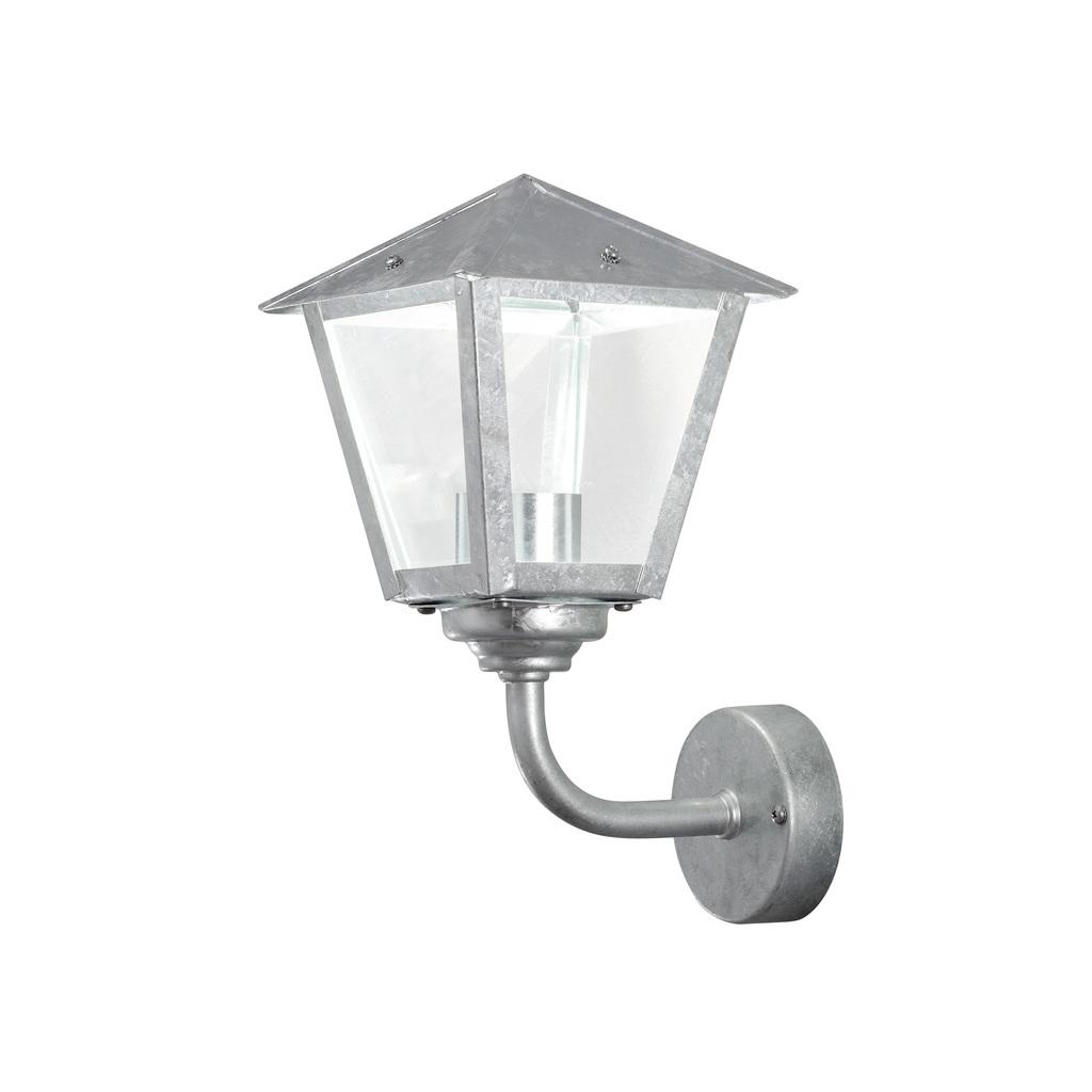 Konstsmide LED Laterne Benu Wandleuchte, Metallisch/silber/transparent, Glas/Stahl, 440-320 | Lampen > Aussenlampen > Gartenleuchten