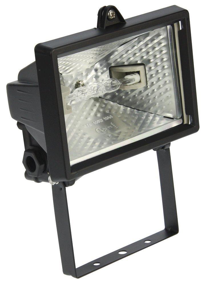 Heitronic Außenwandstrahler Saduni 1, Schwarz,metallisch, Aluminium/Glas, Bewegungsmelder, 44010