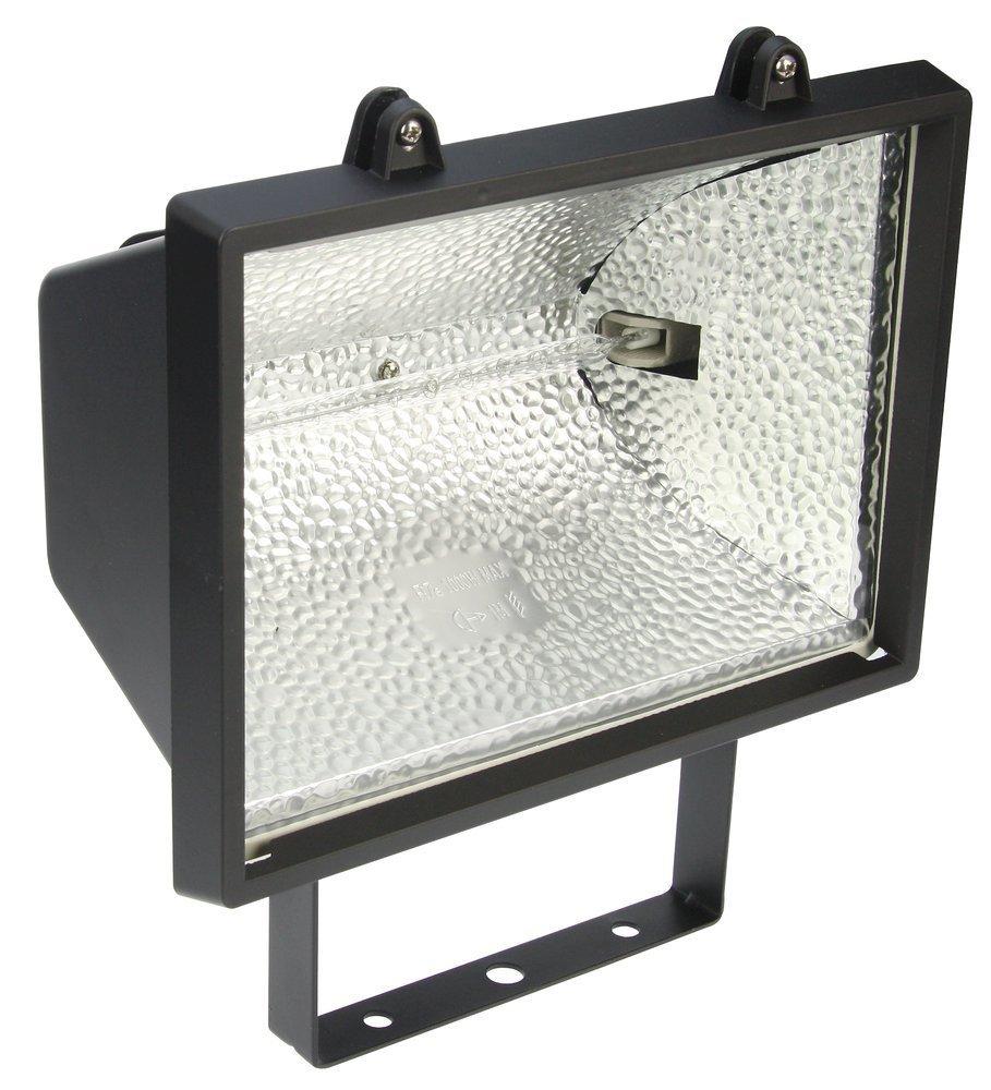 Heitronic Außenwandstrahler Saduni 3, Metallisch,schwarz, Aluminium/Glas, Bewegungsmelder, 44017