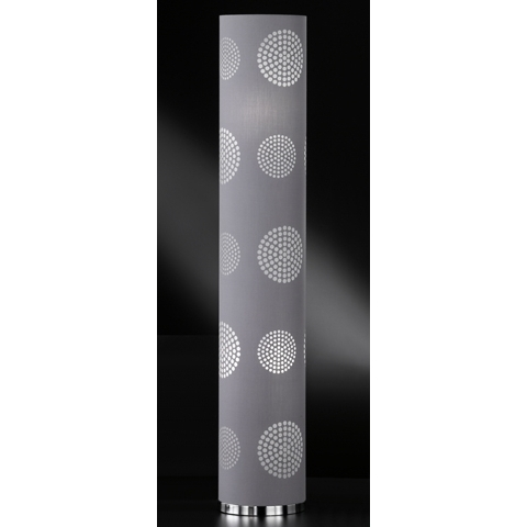 Honsel Standleuchte Joona, Chrom,grau, Metall/Stoff, 44152