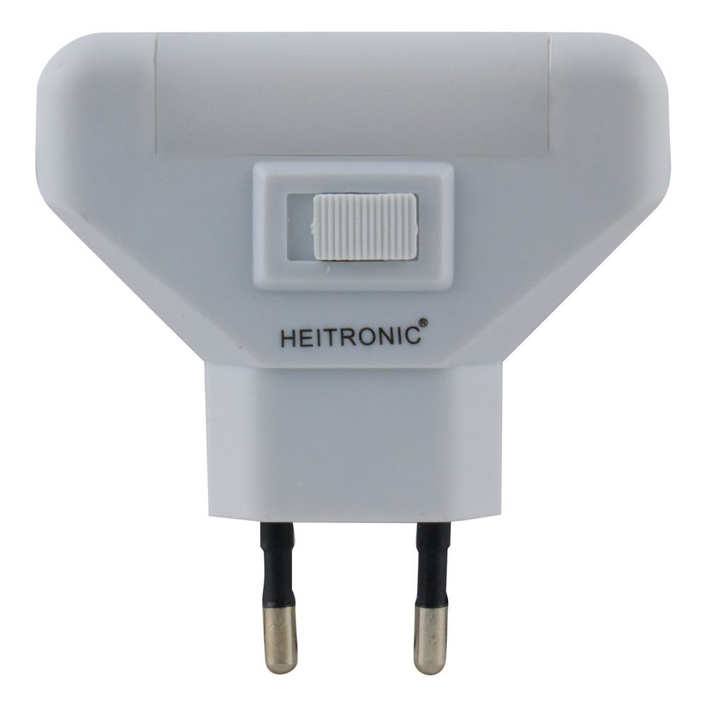Heitronic LED Steckdosenleuchte Wilu, Weiß, Kunststoff, 47169