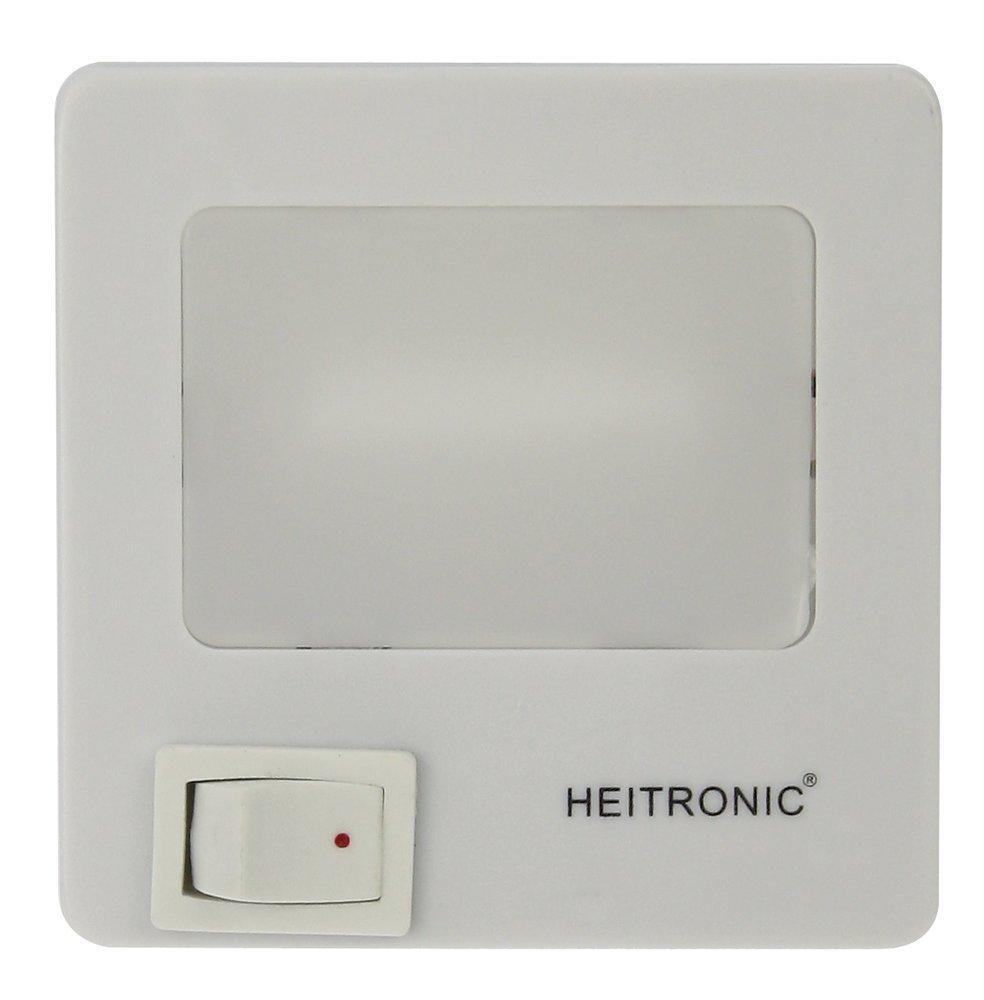 Heitronic LED Steckdosenleuchte Kunststoff, Weiß, Kunststoff, 47202