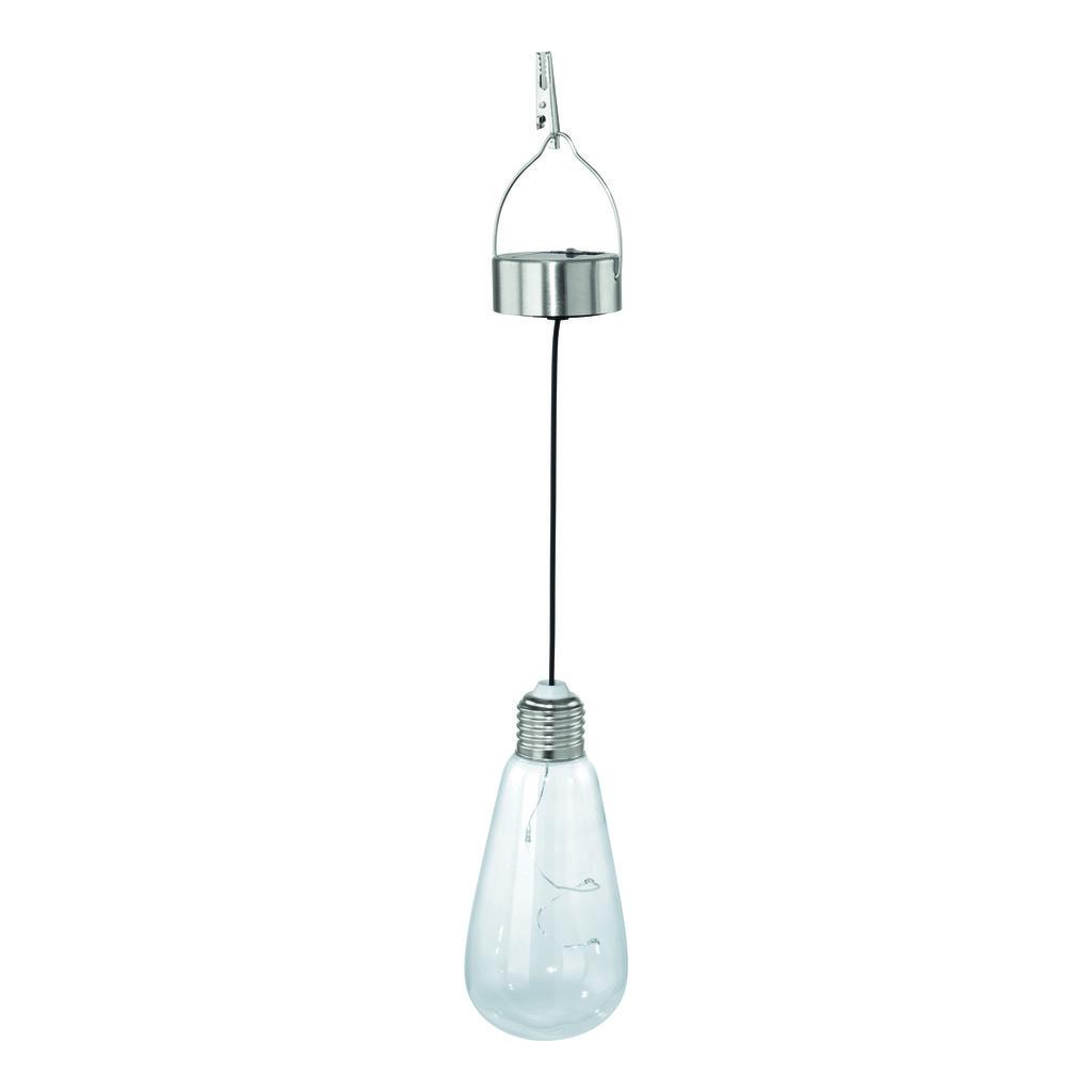 EGLO LED Solarleuchte Solarleuchte, Metallisch,transparent, Edelstahl/Glas, 48513